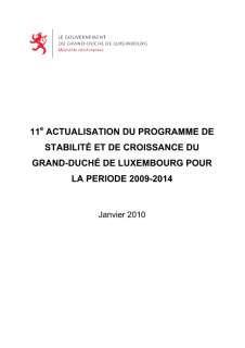 11th update of the Luxembourg stability and growth programme 2009-2014