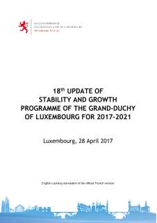 18th update of the stability and growth programme of the Grand Duchy of Luxembourg for the 2017-2021