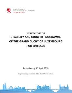 19th update of the stability and growth programme of the Grand Duchy of Luxembourg for the 2018-2022